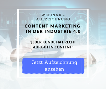 Content Marketing in der Industrie 4.0