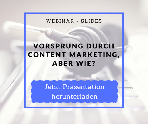 Slides Vorsprung Content Marketing
